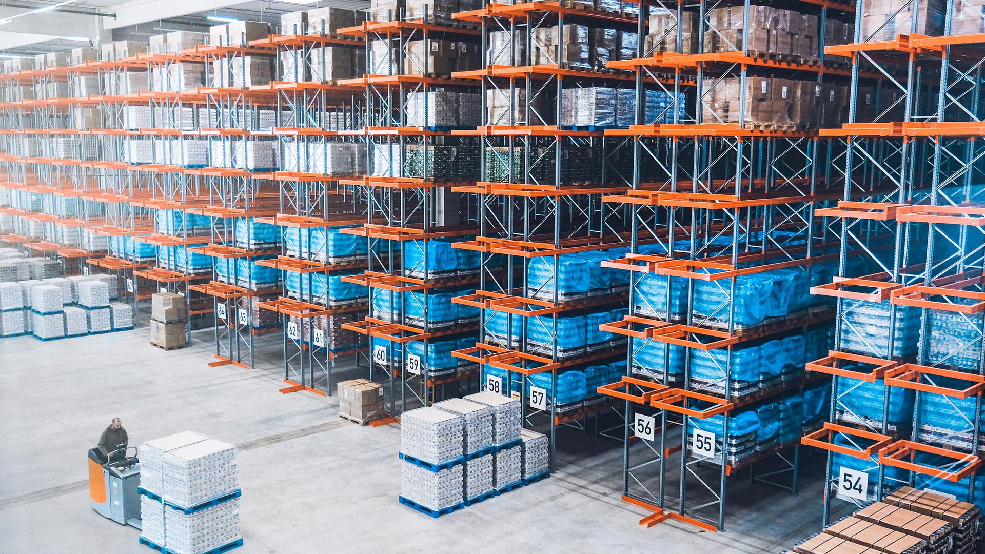 Stenkamp Logistik Borken Duisburg Lebensmittel Lagerung Lagerhalle Hochregallager Transport