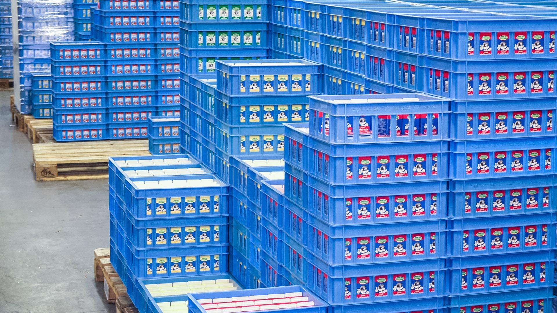 Stenkamp Milchbestellungen Schulmilch bestellen Logistik Borken Duisburg Lebensmittel Lagerhalle Transport