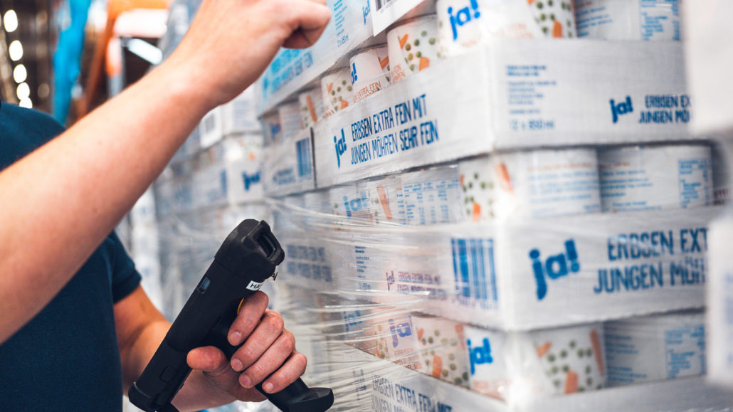 Stenkamp Scanner Logistik Hochregallager Borken Duisburg Lebensmittel Lagerung Transport