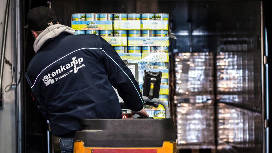 Stenkamp Transporte GmbH Lebensmittel Staplerfahrer Logistik Borken Duisburg Lebensmittel Lagerhalle Lagerung Transport