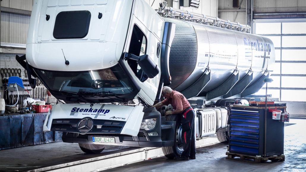 Stenkamp Transporte GmbH Werkstatt LKW Logistik Borken Duisburg Lebensmittel Lager Transport
