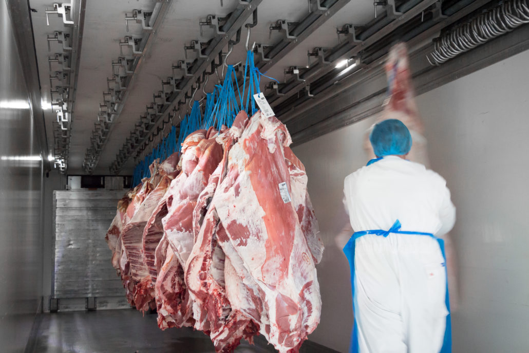 Stenkamp Transporte LKW Fahrt Münsterland Lebensmitteltransport Fleisch
